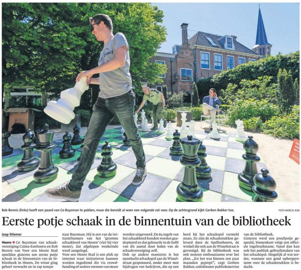 Artikel NHD – Eerste potje schaken