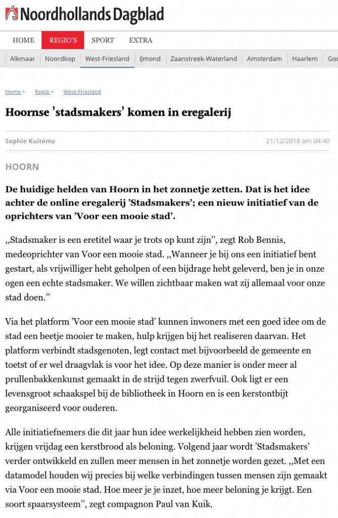 NHD – Stadsmakers
