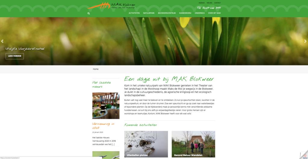 MAK Blokweer website