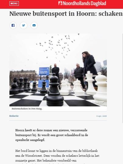 Artikel in het NHD over het schaakspel